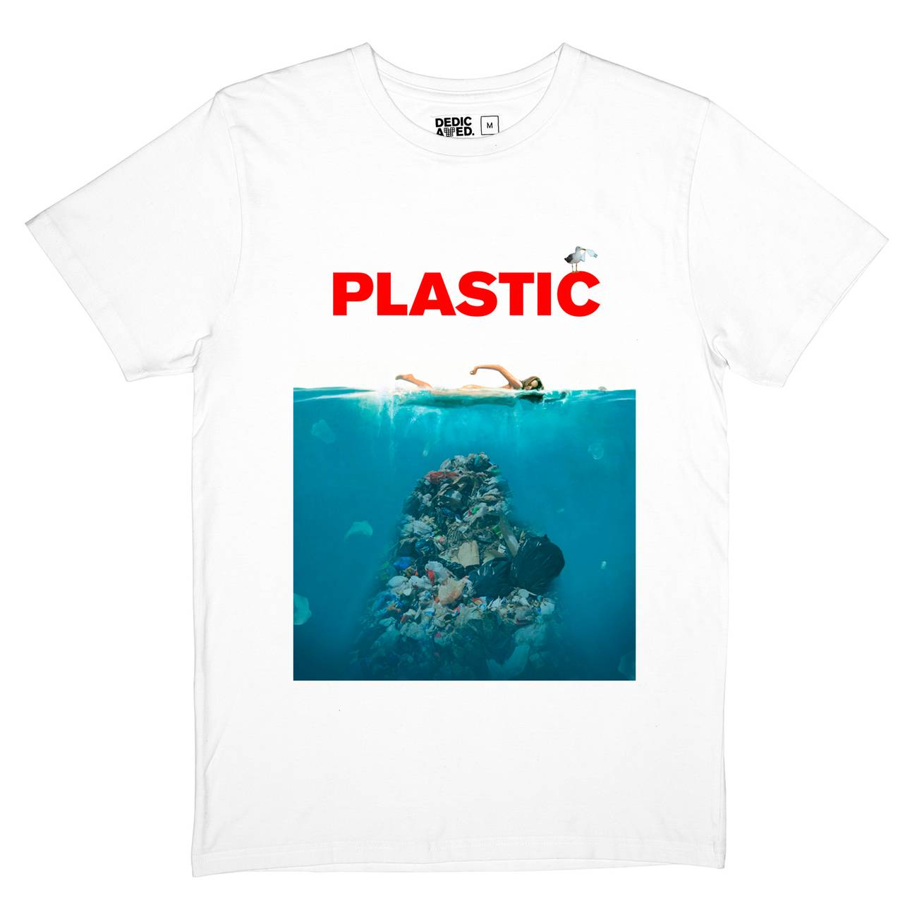 3062e240d05 DEDICATED T-SHIRT STOCKHOLM PLASTIC - ΑΝΔΡΑΣ ΛΕΥΚΟ